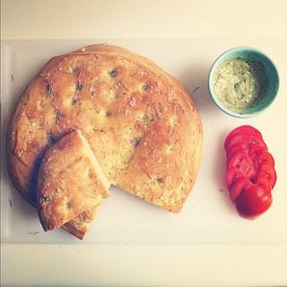 I'm seeing a tomato sandwich with pesto mayo on focaccia in my near future. | by TracyElaine