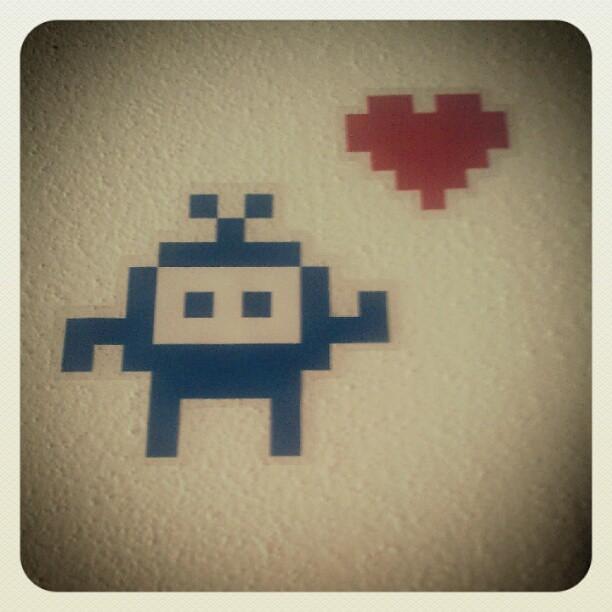 D #8bit #ikea #stickers #slatthult #ladyleia #spaceinvade