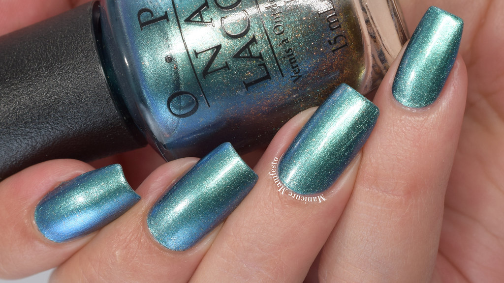Metallic Teal Nail Polish