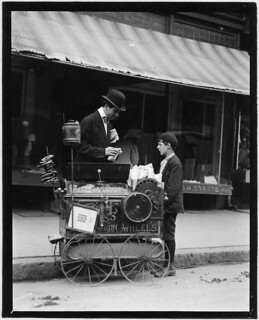 Joseph Severio, peanut vender, 11 years of age. Been pushing cart 2 years, May 1910 | by The U.S. National Archives