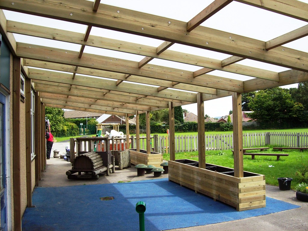 Lean To Canopies : Outdoor classroom wooden shelter canopy kew lean to