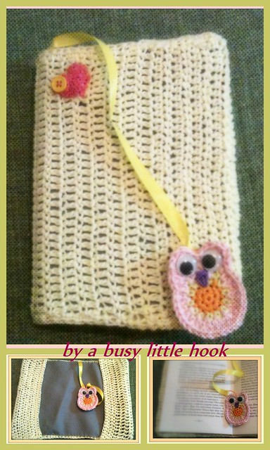 Crochet A Book Cover ~ Crochet book cover with bookmark flickr photo sharing