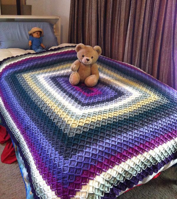 Bavarian Crochet Afghan Finished Bavarian Crochet