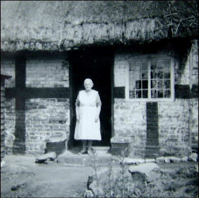 My great great aunt Sarah Turner at the door of her Shrops… | Flickr