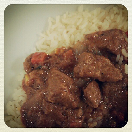 The canteen is featuring dishes from Sierra Leone today! This was a groundnut and lamb stew. | by su-lin