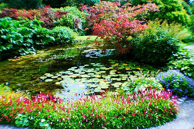 Feature at Armadale Castle garden, Skye, Scotland.