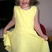 Modelling a yellow dress from River Island's Spring/Summer 2012 collection