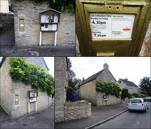 Ampney St. Peter ... a gold painted postbox. GL7 16 | by bazzadarambler