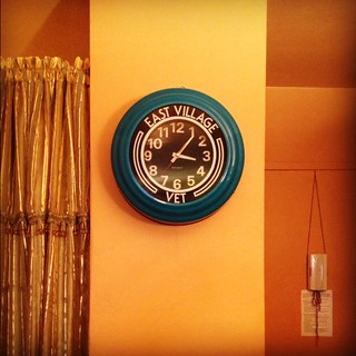 The clock from the East Village Vet | by C Merry