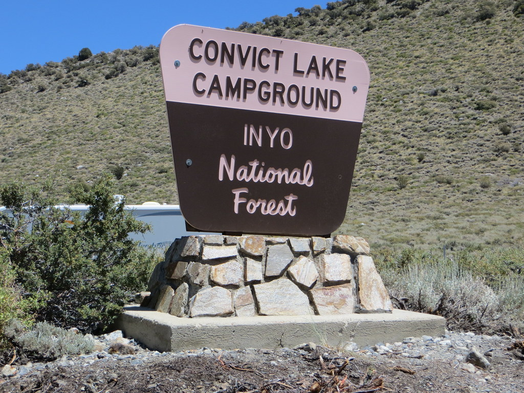 Convict Lake Campground California Convict Lake Campground Sign