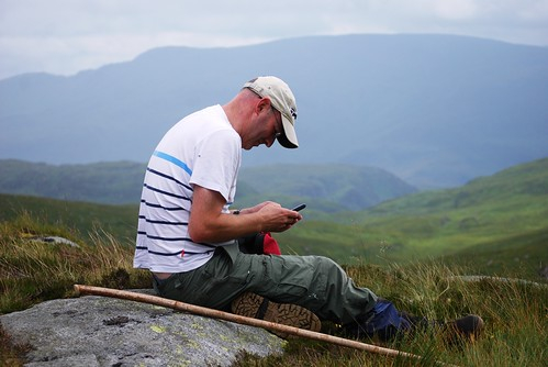Texting in the Galloway hills. | by Mark McKie