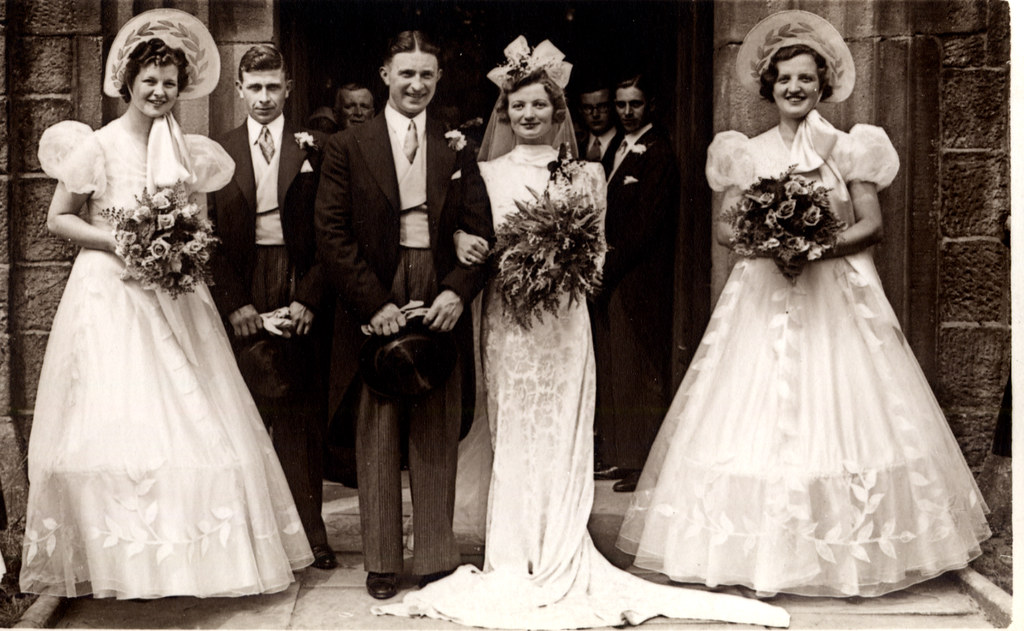 Late 1930s Wedding Found Image There Was A Fashion For