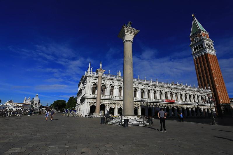 Sáng sớm ở quảng trường San Marco