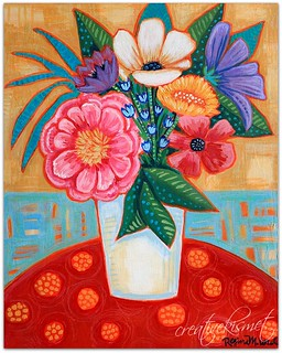 Bouquet on Red Table | by Regina Lord (creative kismet)