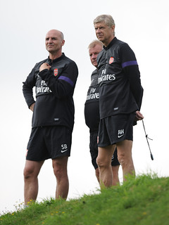Arsene Wenger, Steve Bould and Neil Banfield | by Stuart MacFarlane