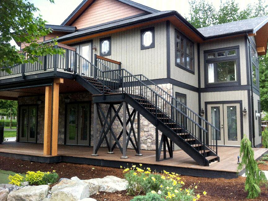 Durarail durarail powder coated aluminum railing system for Pre built porches