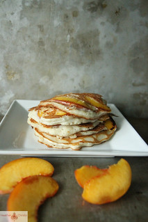 Peach Coconut Pancakes | by Heather Christo