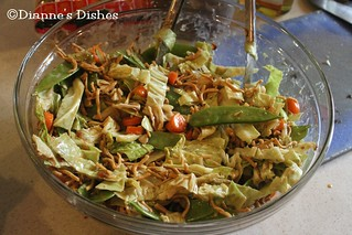 Asian Peanut Salad: Tossed | by Dianne's Dishes