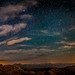 Perseid meteor panoramic from the summit of Mt Evans