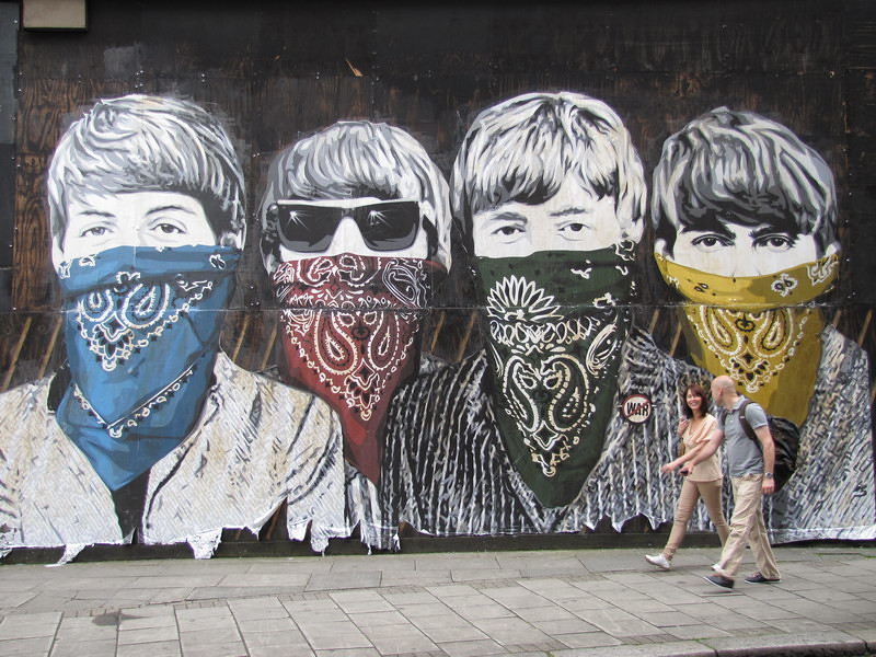 Street art graffiti london mbw kriebel flickr for Mural mr brainwash