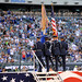 Honor Guard perform at NFL game during Air Force Week