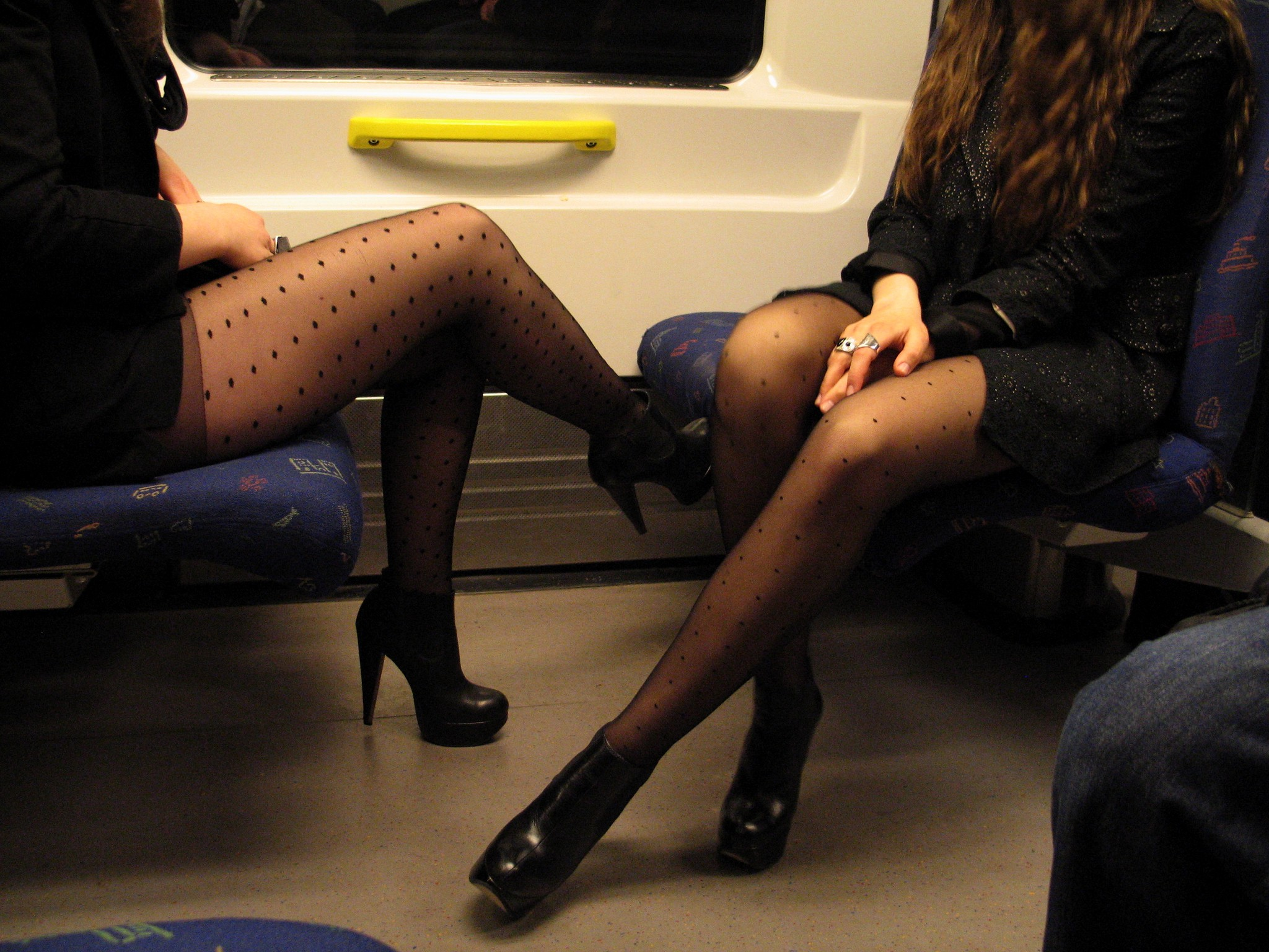 trains with pantyhose on the side