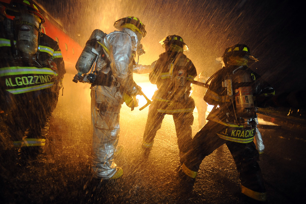NY National Guard Firefighters training | Firefighters with … | Flickr