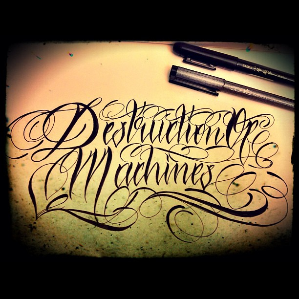 English Calligraphy Tattoo #calligraphy #tattoo