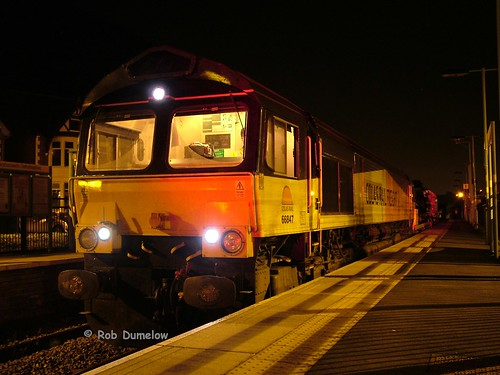 66847 at Crosskeys after arrival with 6W33 from Hinskey | by rob37430