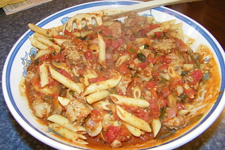 93/365/1554 (September 12, 2012) - Penne with Sausage & Basil Sauce | by cseeman