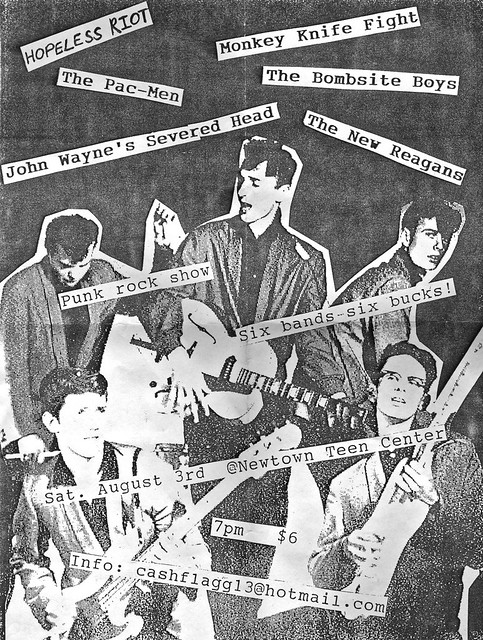 Hopeless Riot / Monkey Knife Fight / The Pac-Men / The Bombsite Boys / The New Reagans / John Wayne's Severed Head