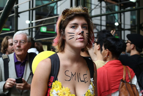 Smile at Occupy Wall Street | by WarmSleepy