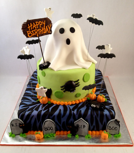 Creative Cakes By Allison Happy Birthday Ghost Cake Flickr