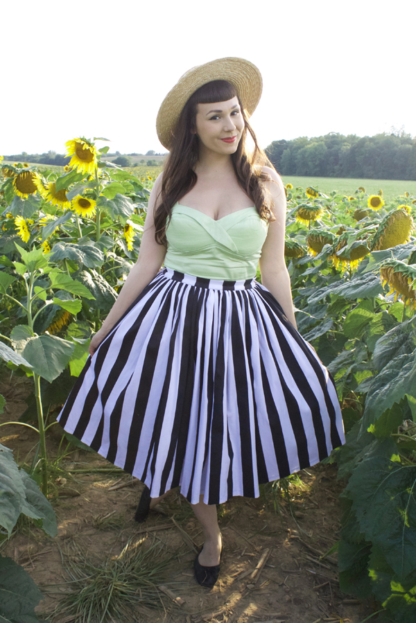 pinup girl clothing striped jenny skirt