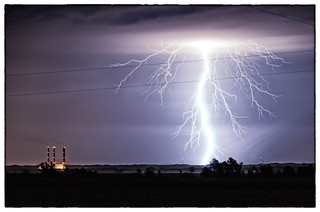 Lightning over Labadie, Mo | by James D Bull