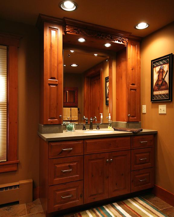 Bathroom with vanity - Bathroom Vanity After Personalized Renovation By Design Ca Flickr
