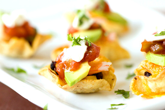 Individual shrimp nachos | Shrimp Nacho Bites on BrownEyedBa ...