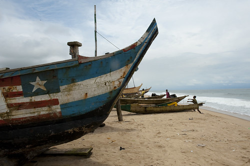 Fishing boats on the shore | by World Bank Photo Collection