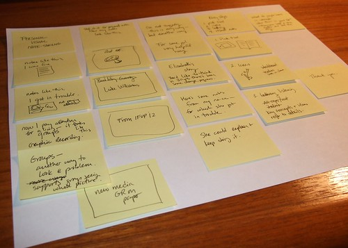 Using sticky notes to plan my presentation | by Rachel Smith
