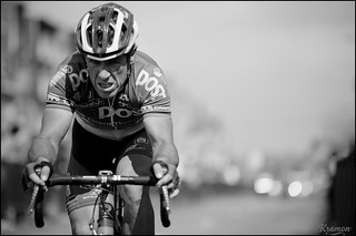 41 yr old Niko Eeckhout solo attacks succesfully out of the escape group with 20km to go. And wins. | by kristof ramon