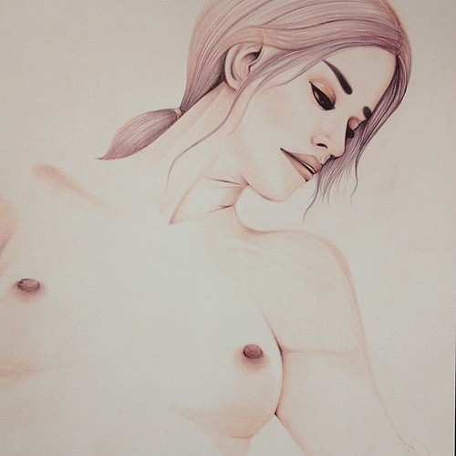 #drawing #female #figure #brightness #contrast #dmise | by DMISE.