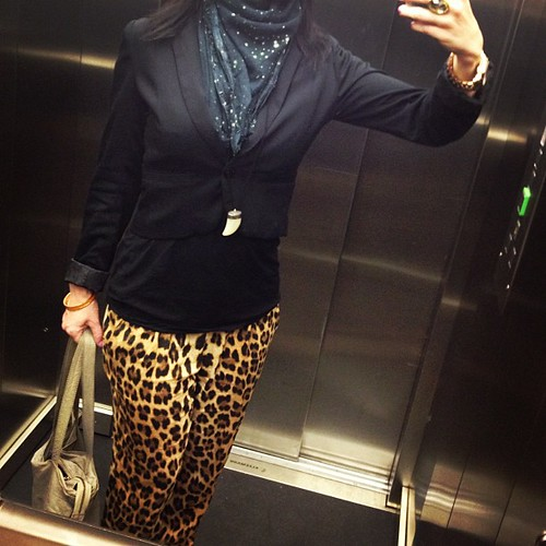 "Blazers Elevator: ""Animal Print, Pants Outta Control"" #ootd #leopard #animal"