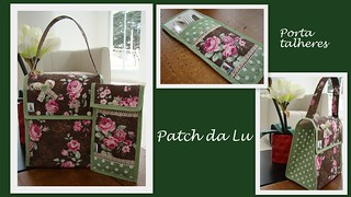 Lunch bag + porta talher | by Patch da Lu