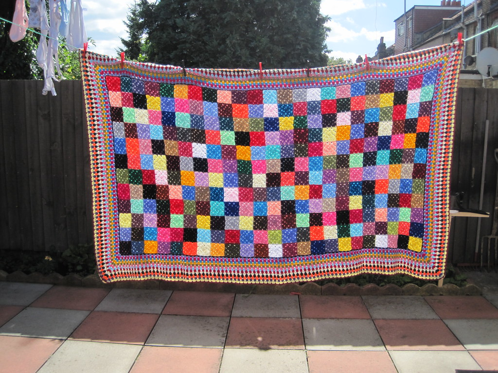 Elmer the elephant blanket. | Nargis Masud | Flickr