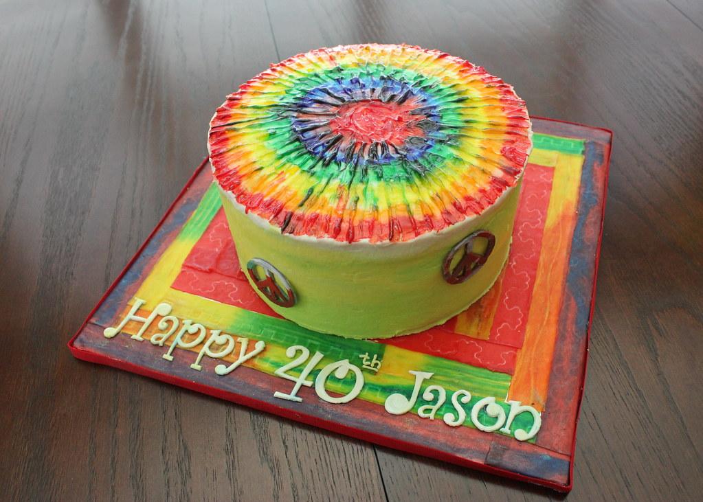 Tie Dye Cake Images