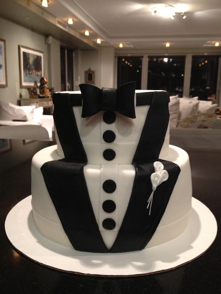Wedding Tuxedo Cake