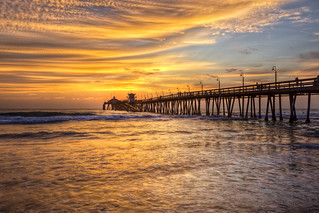 HDR Sunset - IB Pier (San Diego) | by x-ray tech
