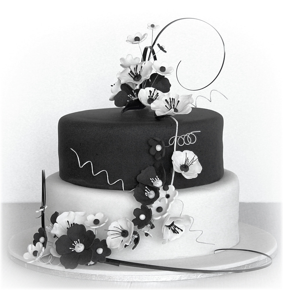 Black and White Anemone wedding cake | Check out more of my … | Flickr