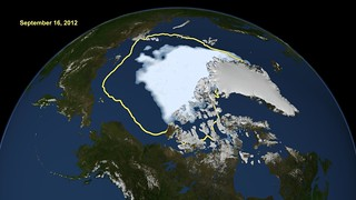 Arctic Sea Ice Hits Smallest Extent In Satellite Era | by NASA Goddard Photo and Video