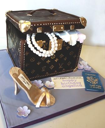 Open Shoe Box Cake